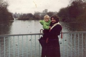 St James Park, London, Jan, 1992, with a friend's daughter