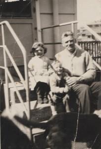 My brother, my grandfather, Leslie Patrick Freeman Davis, and dog, Tom's, bottom.