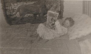 Even at 2½ I took my reading very seriously!